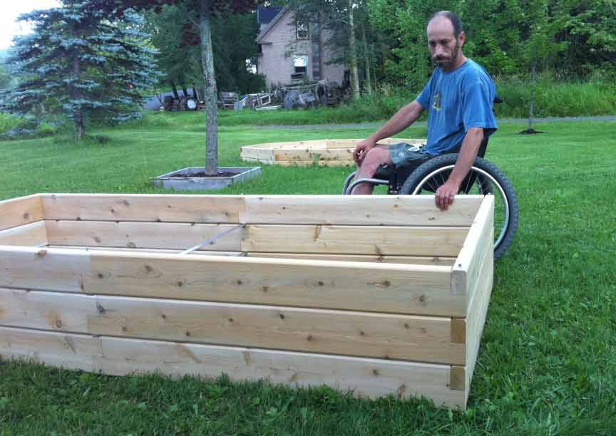 Dave Ciliberto With Raised Garden Bed Hadicap Accessible